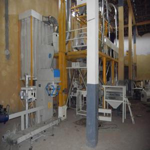 under construction flour mill project