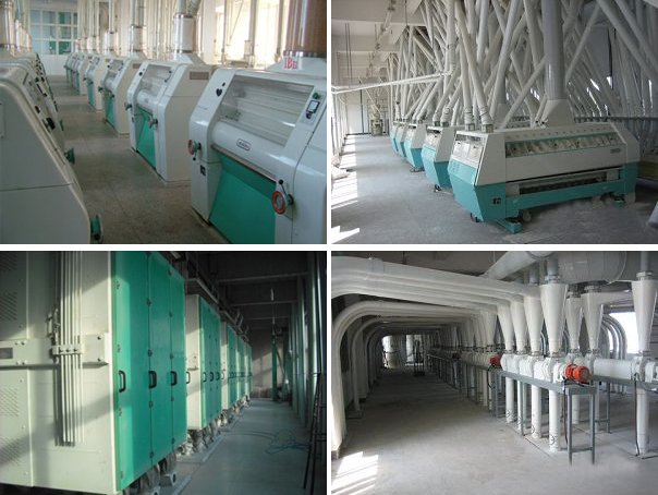 flour equipment in multi-storey plant