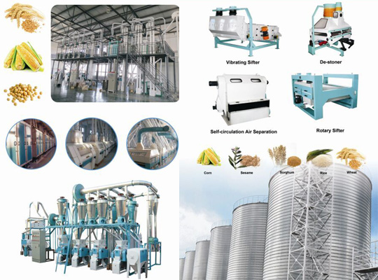 flour mill machinery and grain silo